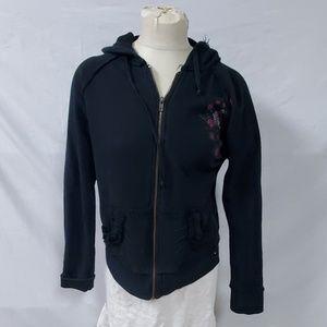 Hard Rock  Black Hoodie Sweatshirt Hollywood Fl